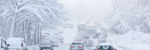 Snowstorm with power outages